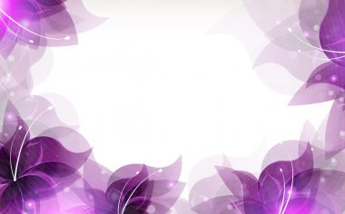 Transparent lilac flowers on a white background with place for text clip art vector