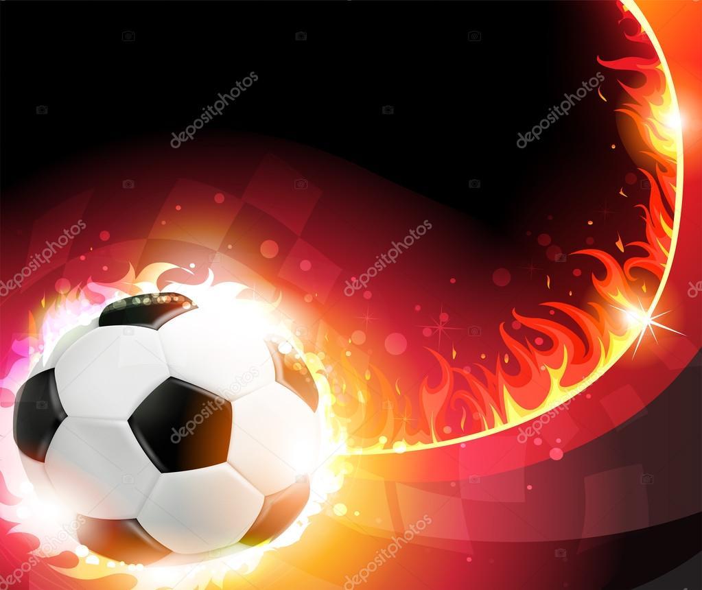 balón de fútbol ardiente — Archivo Imágenes Vectoriales © stekloduv ... 0d16d73b5a7a4