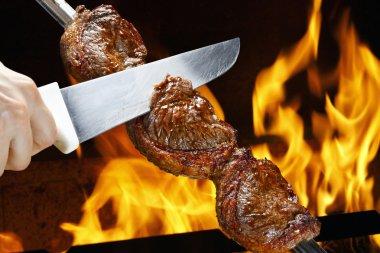 Picanha, traditional Brazilian barbecue. stock vector