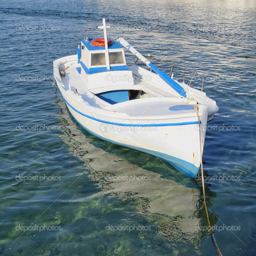 Small fishing boat stock photo dimitriosp 34889405 for Small boats for fishing