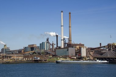 Industry with smoking chimneys