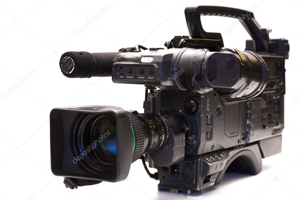 Professional tv camera stock photo overcrew 39794259 for Camera tv web