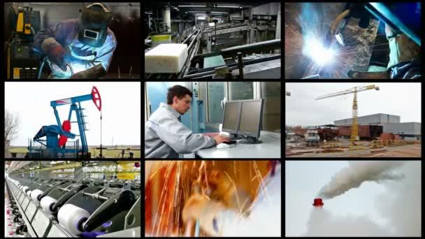 Industry split screen