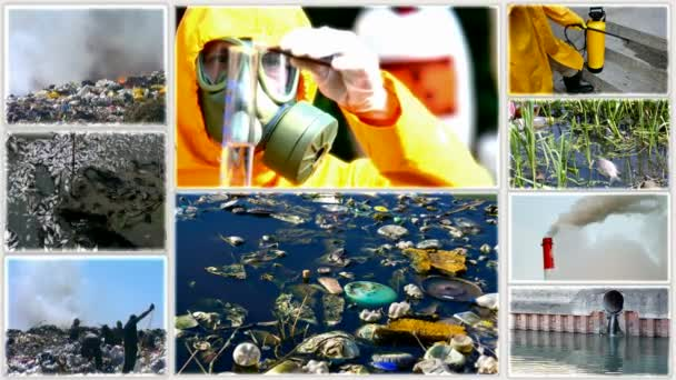 Pollution of the environment-split screen