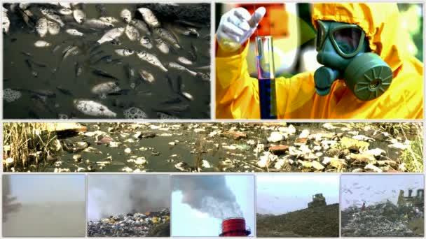 znečištění životního prostředí v různých formách rozdělené obrazovce