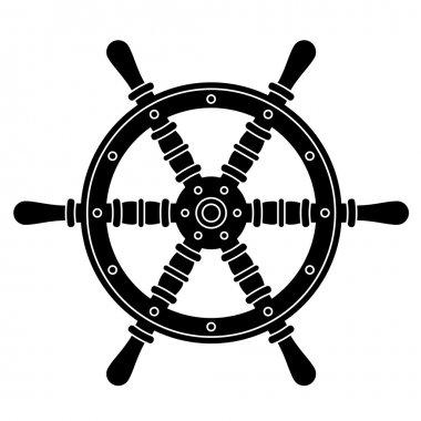 nautical boat steering wheel silhouette