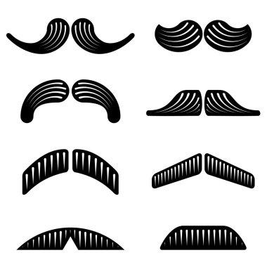 mustache black icons