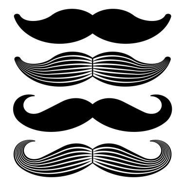 mustache vintage black icons