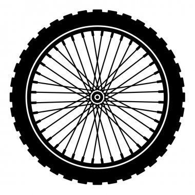 bike wheel black silhouette