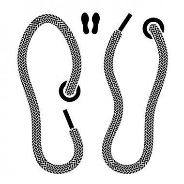 shoelace shoe print symbols