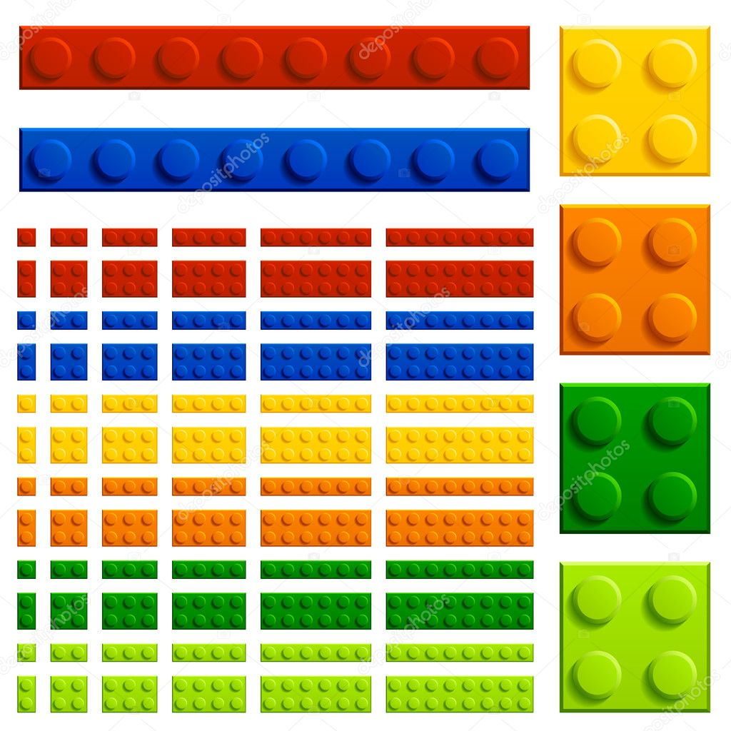 children plastic bricks toy