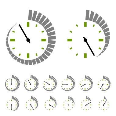 round timer symbols