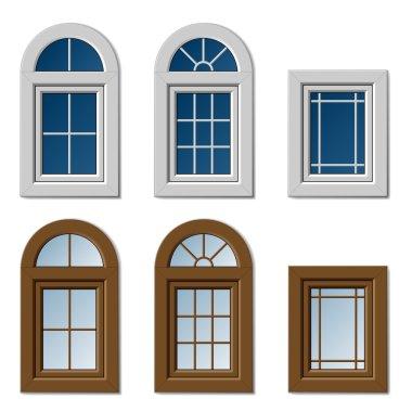 plastic windows white brown