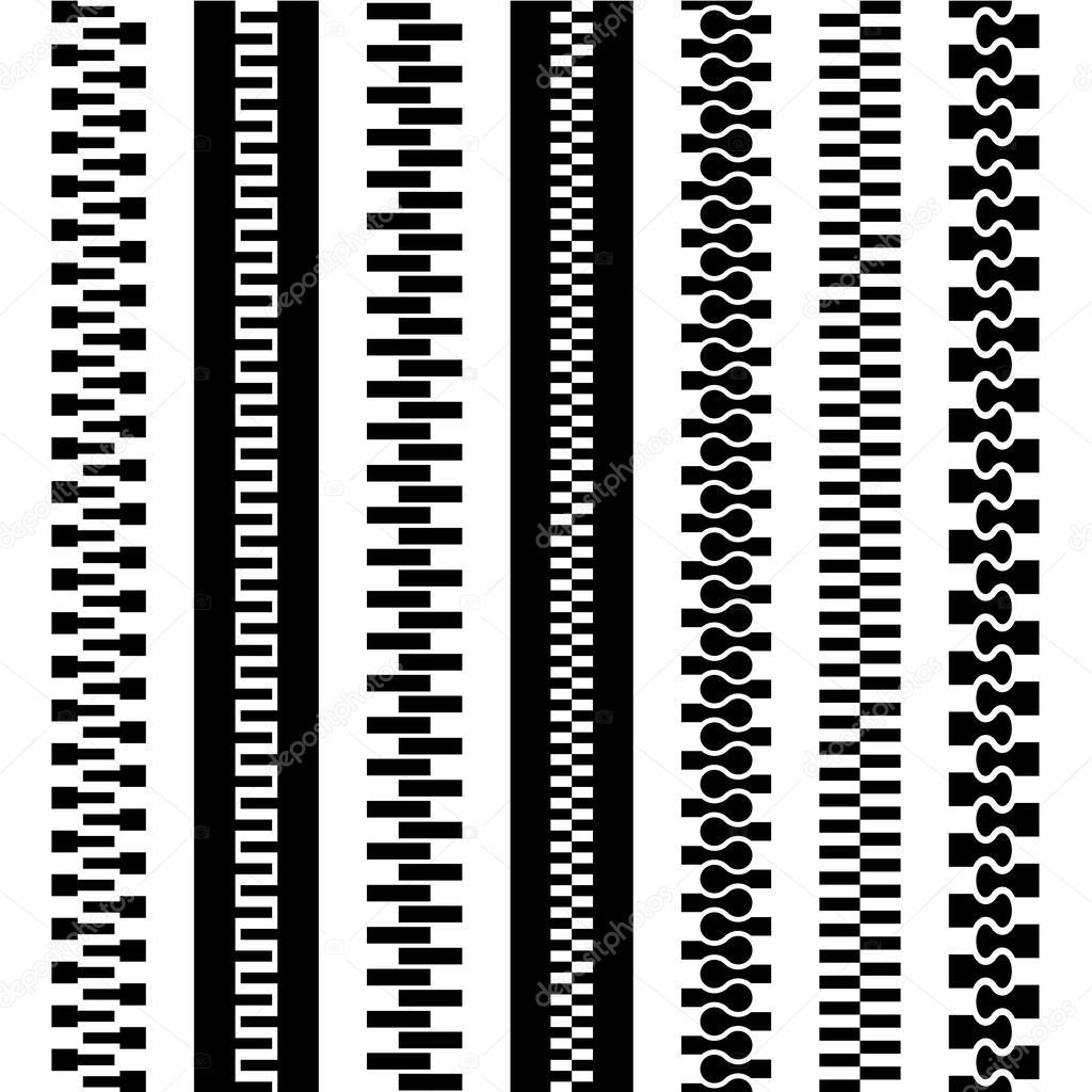 Drawing Lines With Zipper : Seamless zipper black symbols — stock vector happyroman