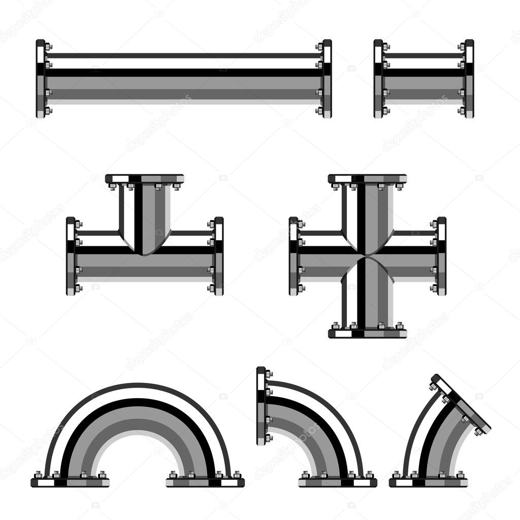 chrome pipes with flange stock vector happyroman 25055155 rh depositphotos com vector pipeline limited partnership vector pipeline expansion