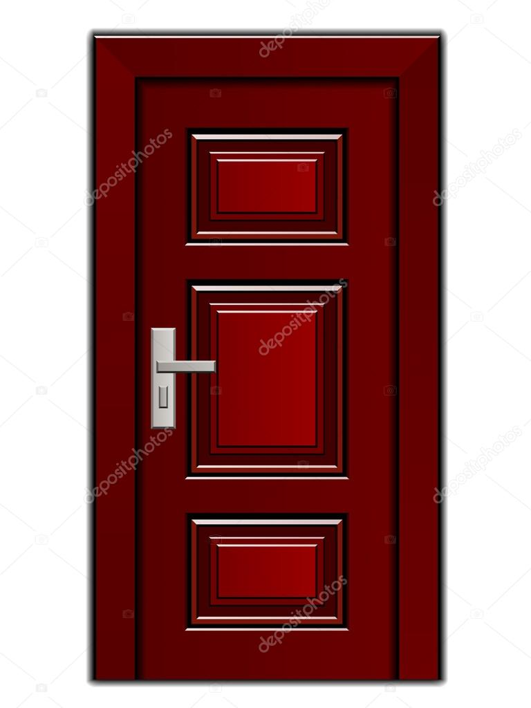 Porte D 39 Entr E En Bois Acajou De Luxe Image Vectorielle 25055209