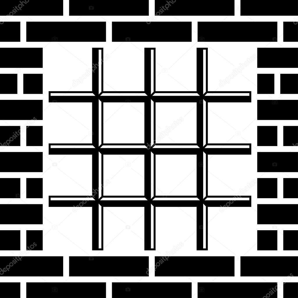 Rost Gefängnis Fenster schwarz symbol — Stockvektor © happyroman ...