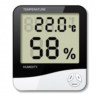 Digital thermometer hygrometer humidity icon - illustration for the web clip art vector