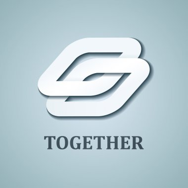 together white paper icon design template