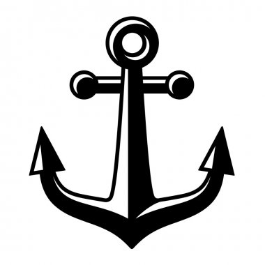 anchor black symbol