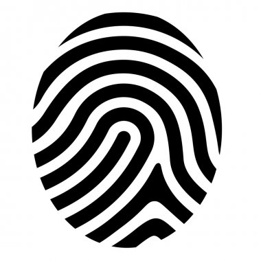drawing fingerprint symbol