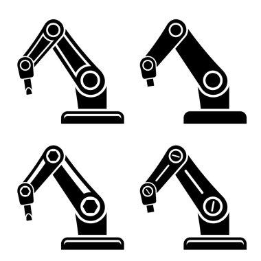 robotic arm black symbol