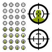 fegyver célkereszt látvány szimbólumok