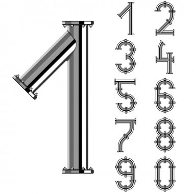 chrome pipe alphabet numbers
