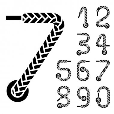 black shoe lace numbers