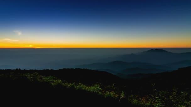 čas zanikla sunrise na údolí Thajsko