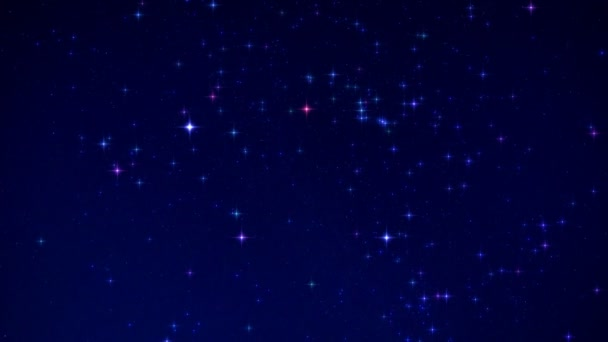 Time Lapse Beautiful Starry Float In The Night Sky (effect mode)
