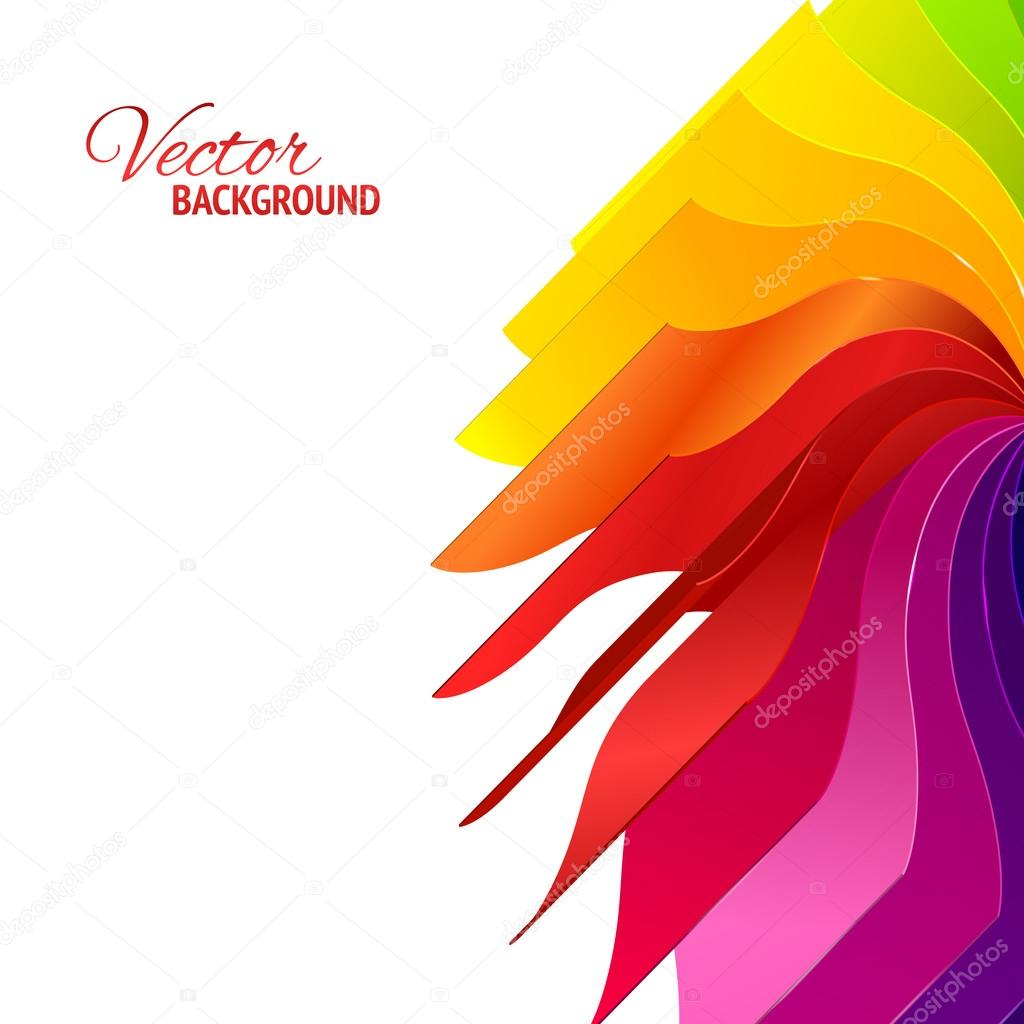 Colorful background with book pages rainbow — Stock Vector ...