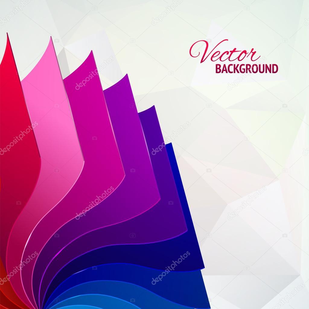 colores de fondo con arco iris páginas libro — Vector de stock ...