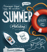 Fotografie Summer creative design template