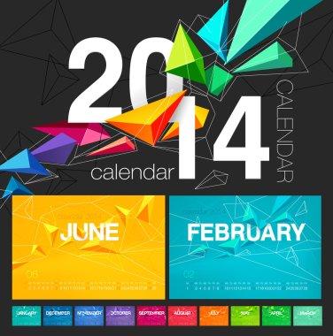 Vector calendar of 2014.
