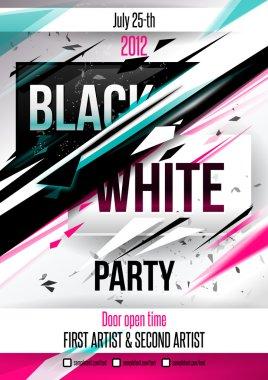 Party poster template. Vector clip art vector