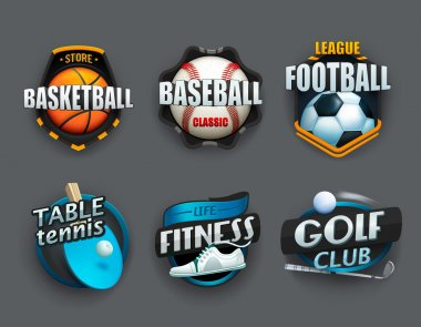 Set of different sport icons.