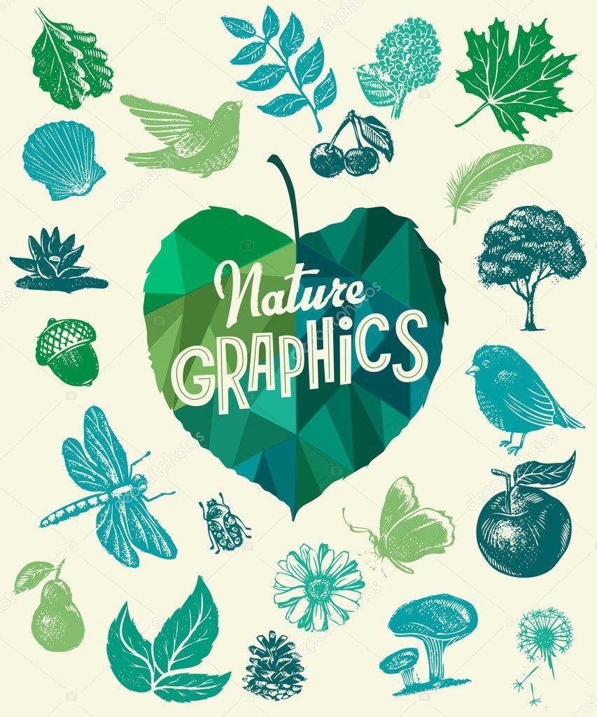 Nature design elements.