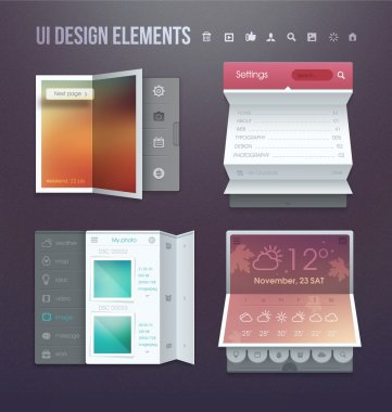 Set of various elements used for user interface stock vector