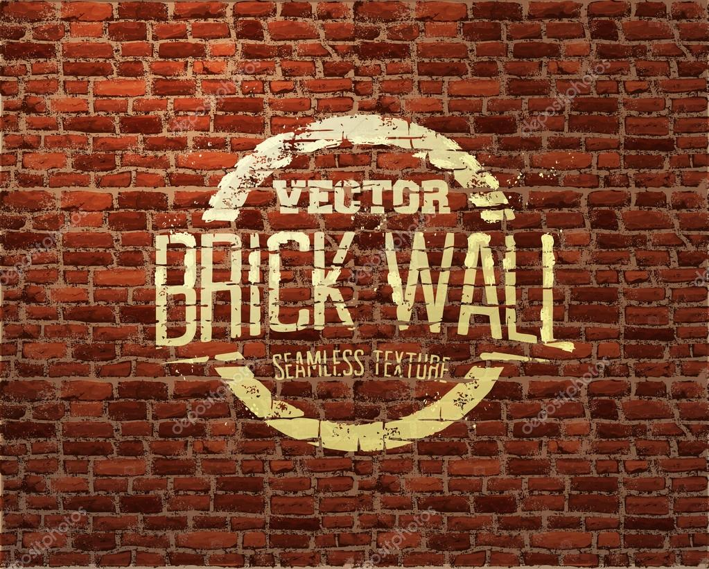Brick wall seamless vector pattern