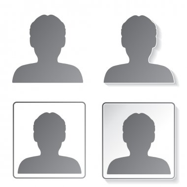 Vector avatar icons, buttons - human, user, member