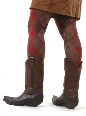 Young woman in cowboy-boots