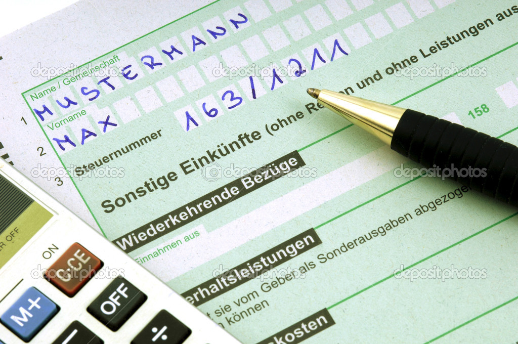 Tax form for the German inheritance tax ready to complete — Stock ...
