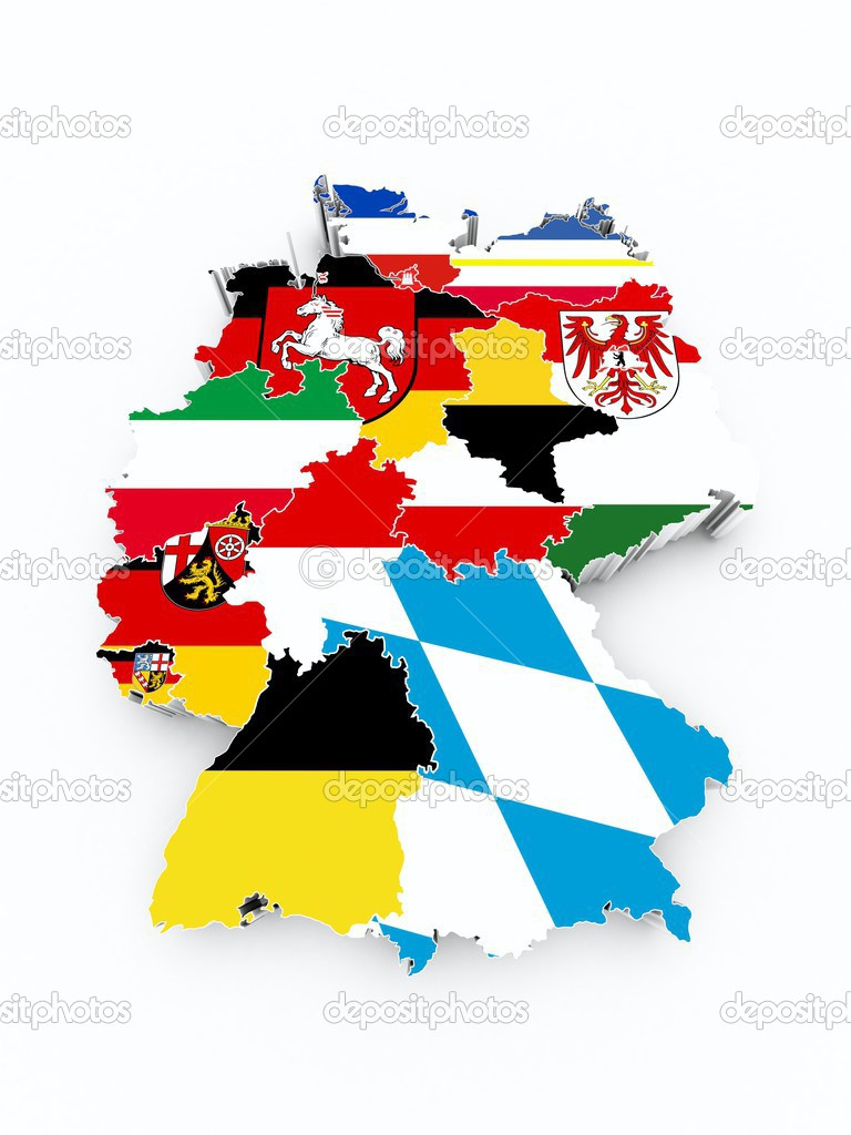 Map germany state flags — Stock Photo © godard #30802143