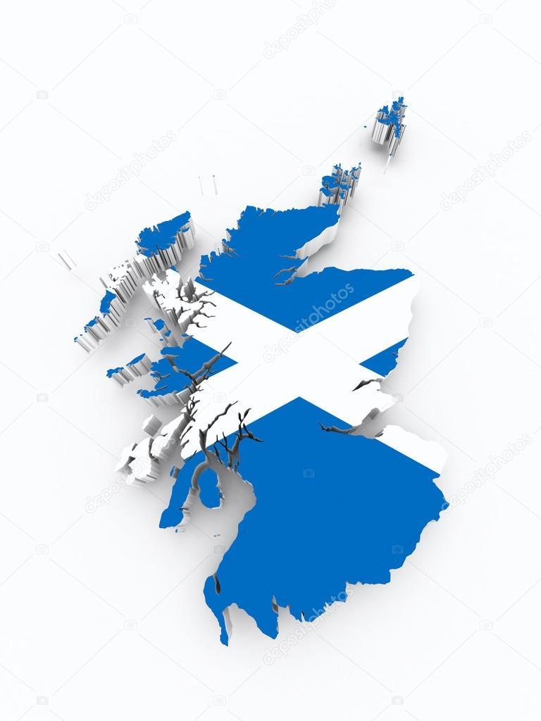scotland flag on 3d map u2014 stock photo godard 39567447