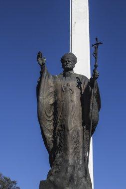 Outdoor Statue of Pope John Paul II