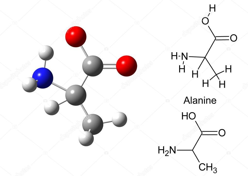 Estrutura Da Molécula De Alanina Fotografias De Banco De
