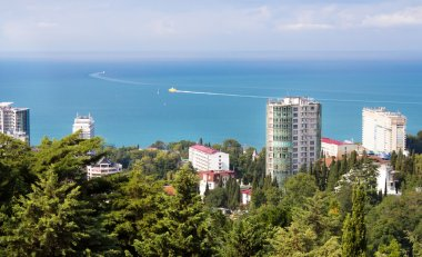 Panoramic view of the construction site of Sochi