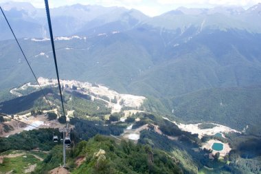 Landscape from the top of the mountain cable car Aibga Rosa Khut
