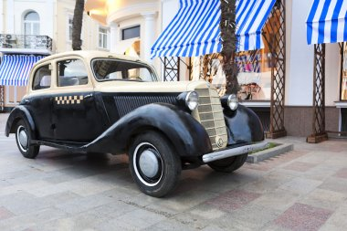 Vintage car on the Embankment in Yalta